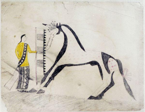 Plains Indian Ledger Art: Sweetwater Ledger Book - Untitled