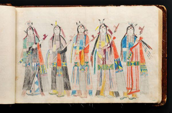 Plains Indian Ledger Art: Black Hawk Ledger - Untitled