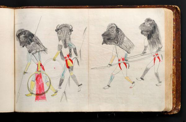 Plains Indian Ledger Art: Black Hawk Ledger - Buffalo dreamers