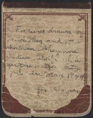 Wild Hog Ledger-Kansas State Historical Society: 1 - FRONT COVER WITH TEXT