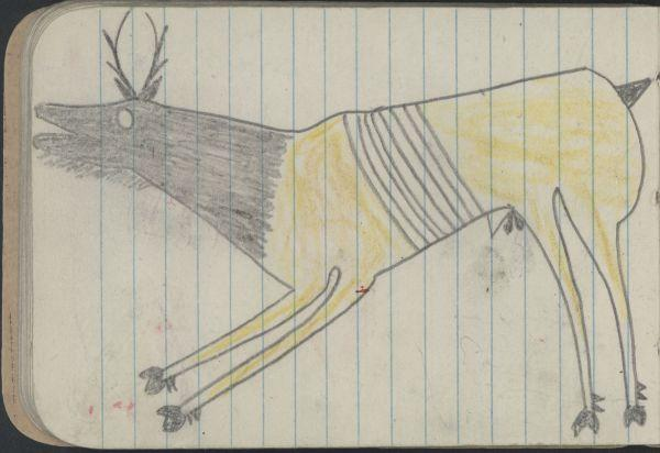 Plains Indian Ledger Art   Northern Cheyenne Ledger-Kansas