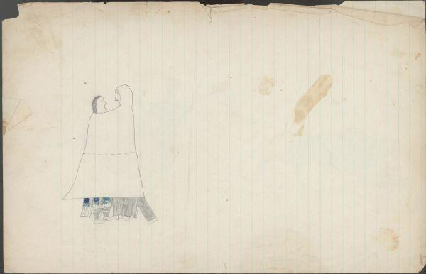 Plains Indian Ledger Art: Keeling Ledger - PLATE 10
