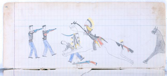 Ledger Art Of Elk : Plains indian ledger art view product arrow s elk